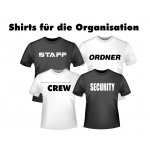 T-Shirts für Security, Ordner, Staff.