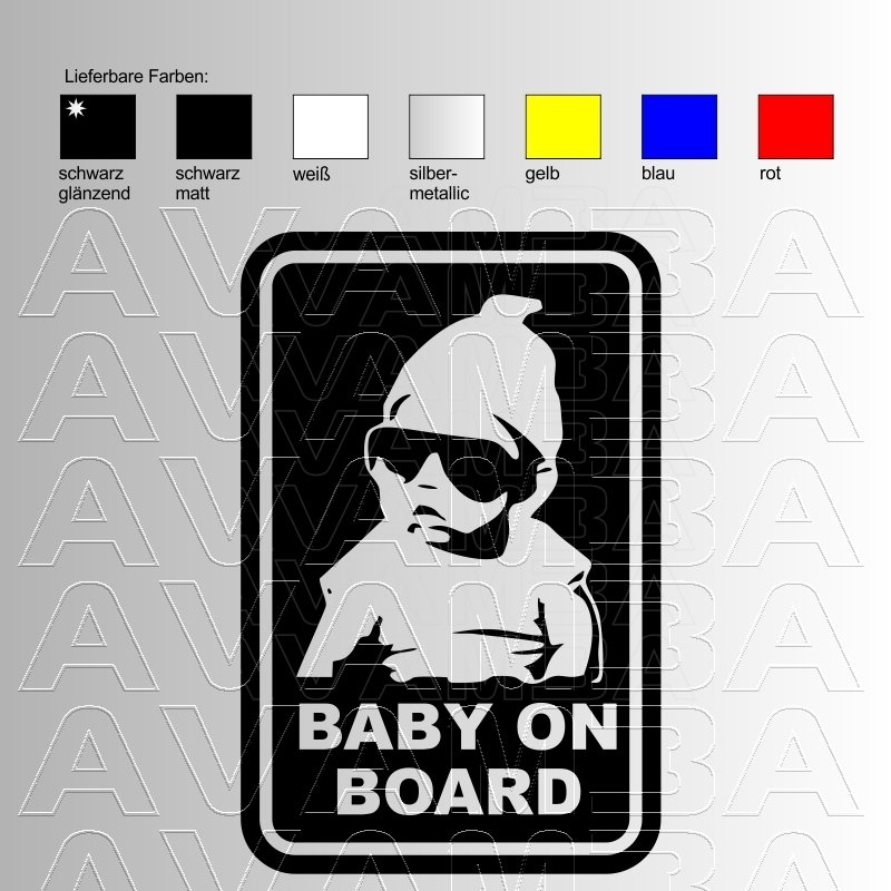 Autoaufkleber / Autosticker Baby on board
