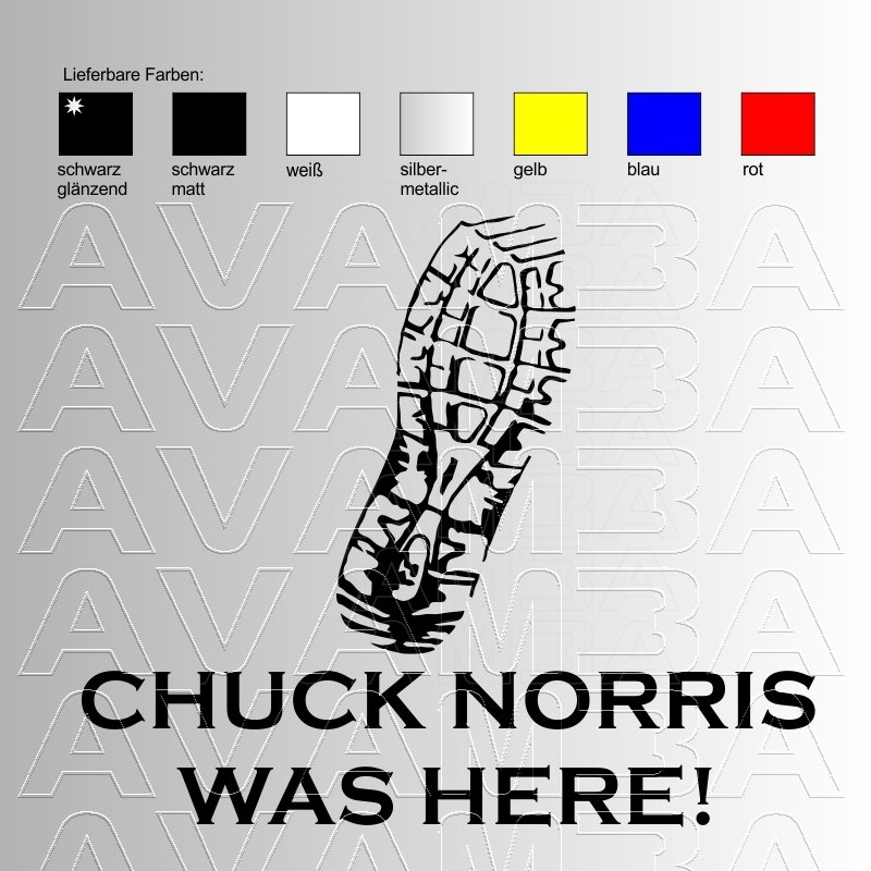 Autoaufkleber / Autosticker CHUCK NORRIS Beulenaufkleber