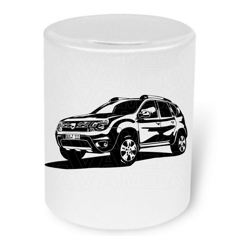 dacia duster moneybox spardose mit aufdruck avamba. Black Bedroom Furniture Sets. Home Design Ideas