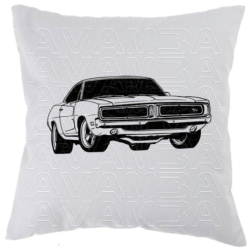 dodge charger 1969 muscle car car-art-kissen / car-art-pillow, avamba