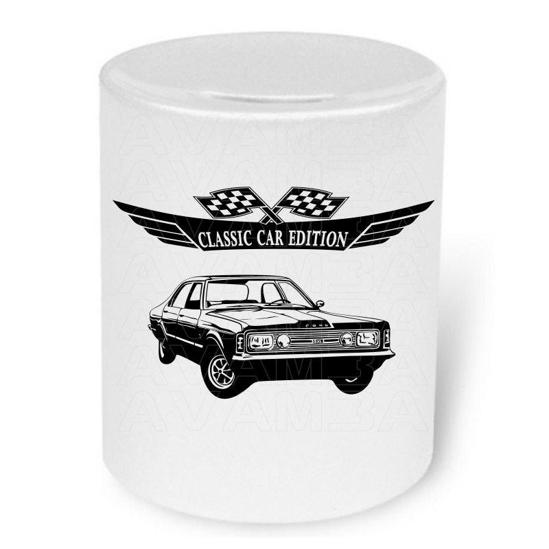 Ford Taunus GXL Moneybox / Spardose mit Aufdruck