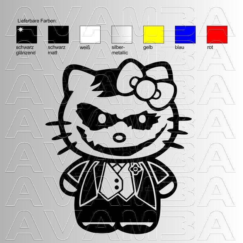 Hello Kitty Autoaufkleber : hello joker kitty autoaufkleber autosticker avamba oldtimer young ~ Orissabook.com Haus und Dekorationen