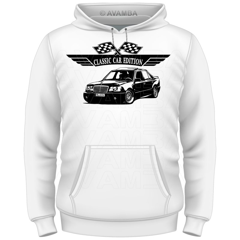 Mercedes benz w124 limousine 200 500 84 93 t shirt for Mercedes benz hoodie