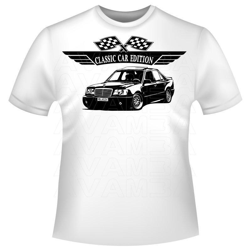 Mercedes benz w124 limousine 200 500 84 93 t shirt for T shirt mercedes benz