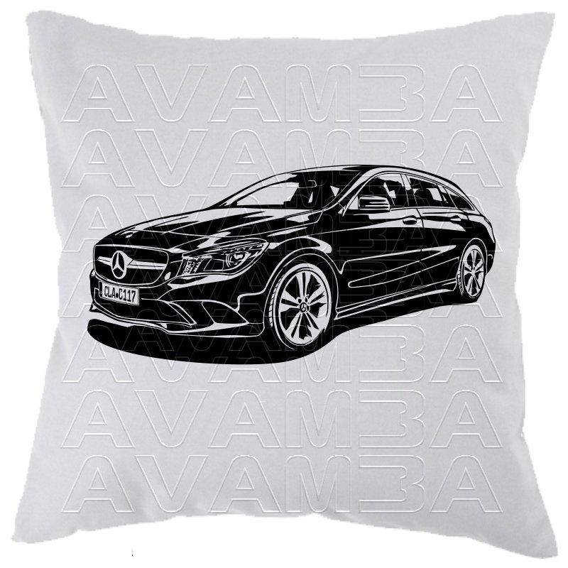 mercedes cla shooting break baureihe 117 car art kissen car art. Black Bedroom Furniture Sets. Home Design Ideas