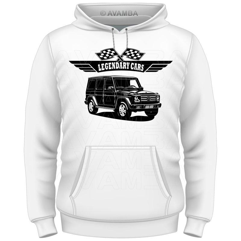 Mercedes benz g klasse limousine t shirt kapuzenpullover for Mercedes benz hoodie