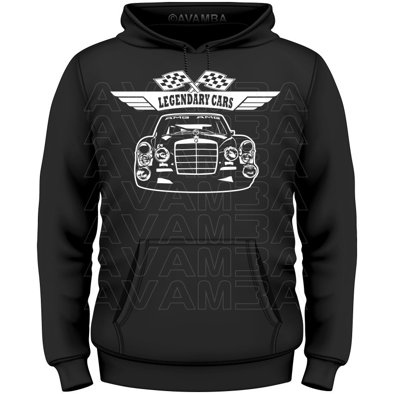 Mercedes 300 sel 6 8 amg rote sau t shirt kapuzenpull for Mercedes benz sweater