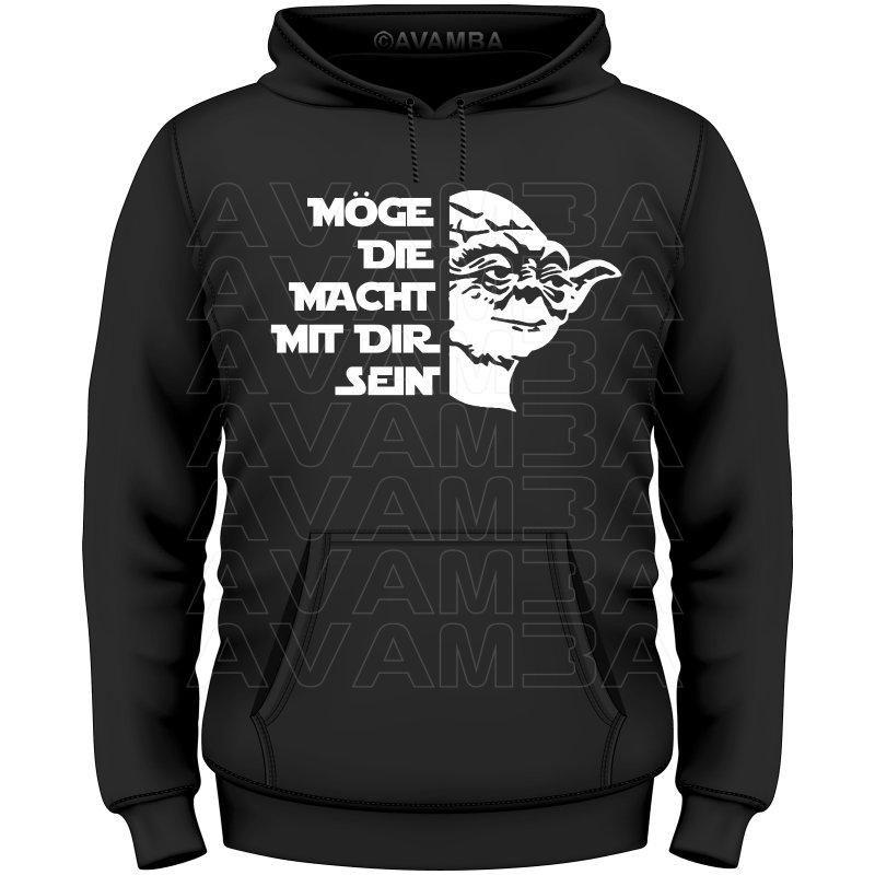 Moge Die Macht Mit Dir Sein Yoda T Shirt Kapuzenpullover Hoodi