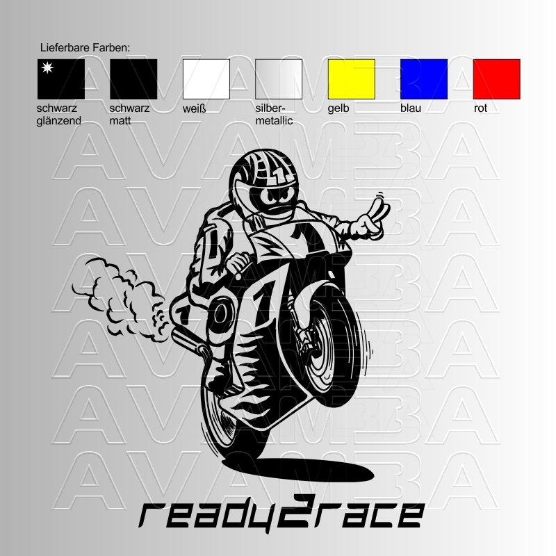 motorrad ready2race aufkleber sticker avamba oldtimer. Black Bedroom Furniture Sets. Home Design Ideas