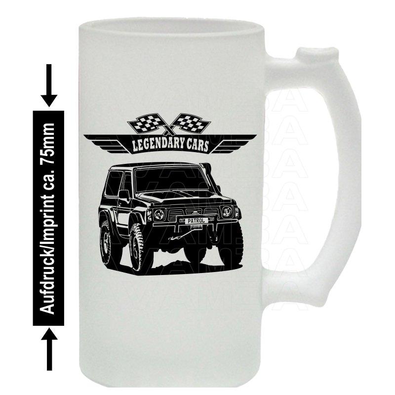 Nissan Patrol GR Y60 Bierkrug / Beermug m. Aufdruck