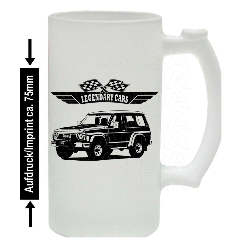 Nissan Patrol GR Y60 V2 Bierkrug / Beermug m. Aufdruck