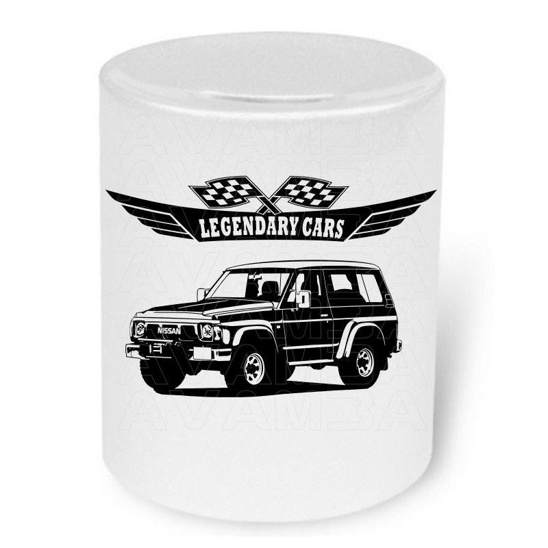 Nissan Patrol GR Y60 V2 Moneybox / Spardose mit Aufdruck
