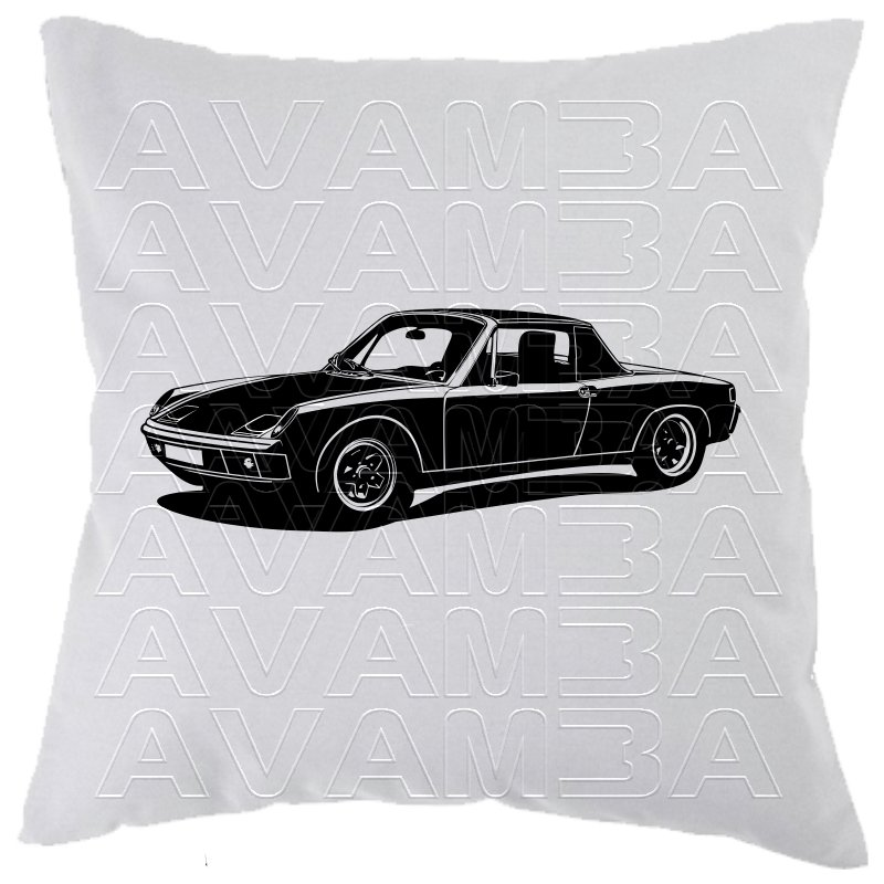porsche 914 car art kissen car art pillow avamba oldtimer youngti. Black Bedroom Furniture Sets. Home Design Ideas