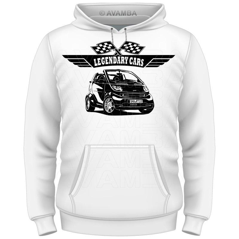 Smart Fortwo Cabrio (2003 - 2007) Auto T-Shirt/Kapuzenpullover...