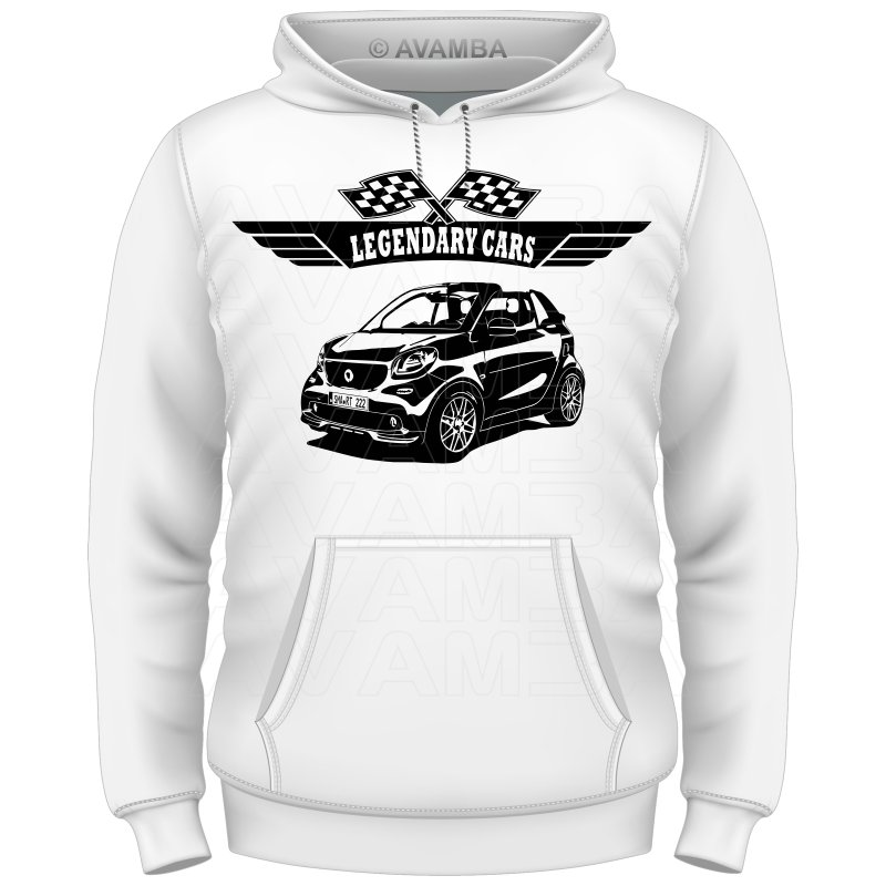 Smart Fortwo Cabrio (ab 2016) Auto T-Shirt/Kapuzenpullover (Hoodie)