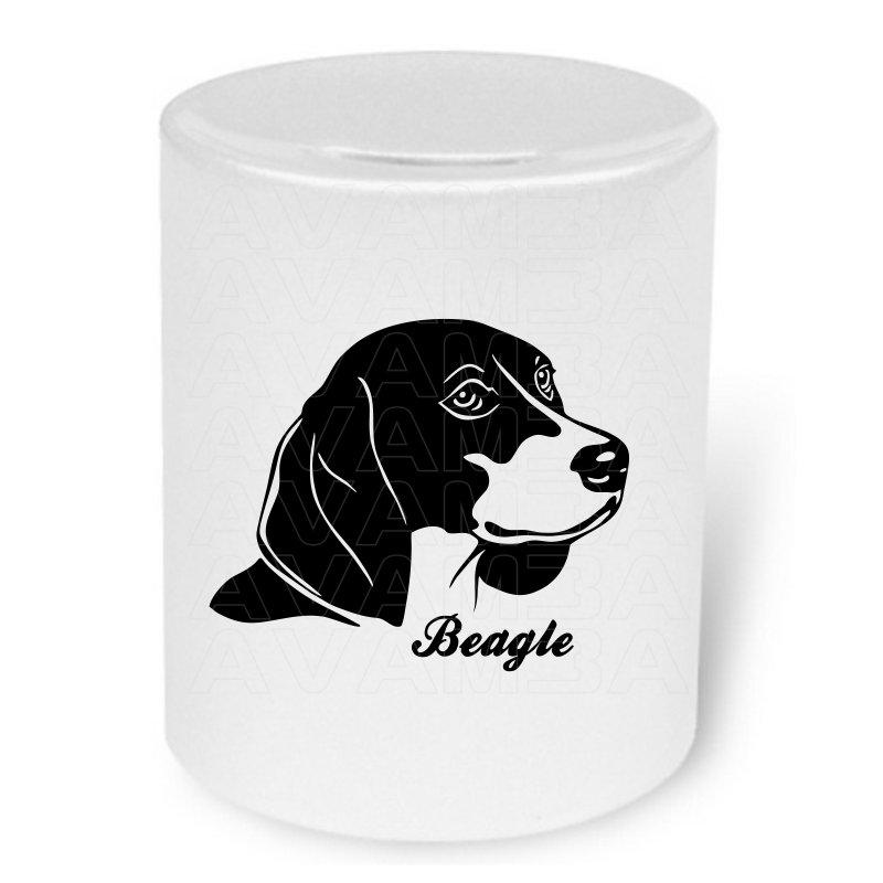 Spardose mit Hund Beagle