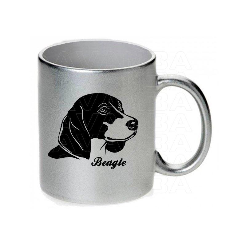 Tasse / Keramikbecher mit Hund Beagle