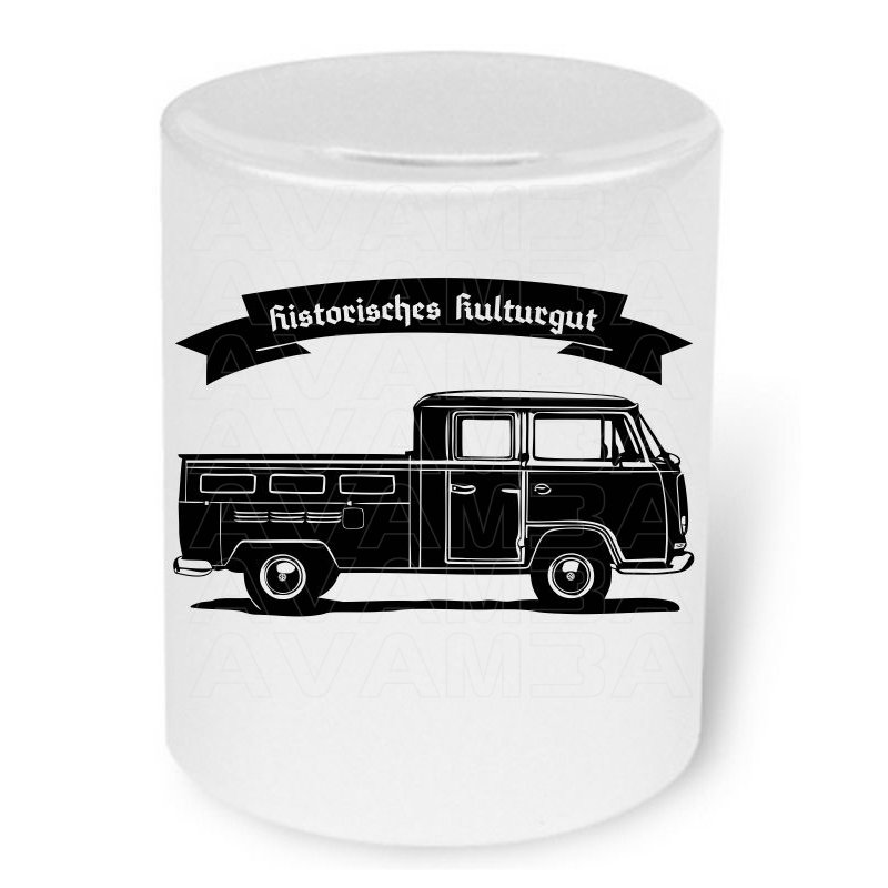 vw bus t2 bulli doka 1967 1979 moneybox spardose. Black Bedroom Furniture Sets. Home Design Ideas