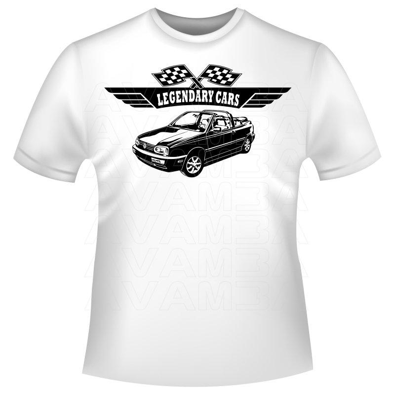 GOLF III 3 Cabrio (1993 - 1998) Auto T-Shirt/Kapuzenpullover (Hoodie)