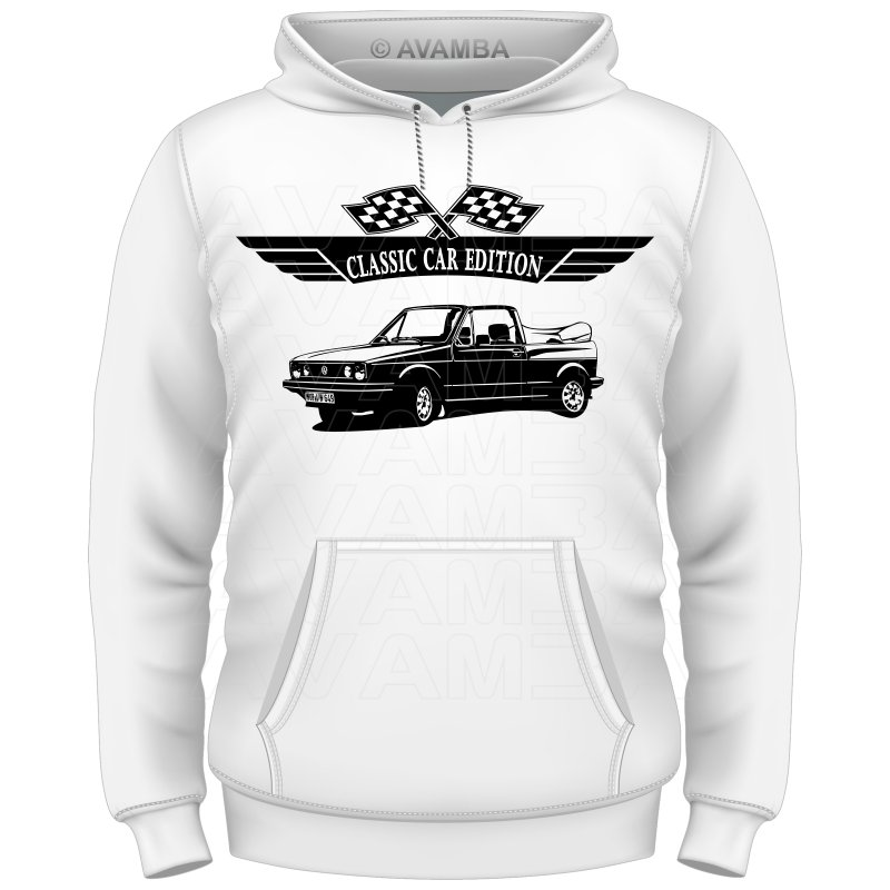 GOLF 1 Cabrio (1979 - 1993) Auto T-Shirt/Kapuzenpullover (Hoodie)