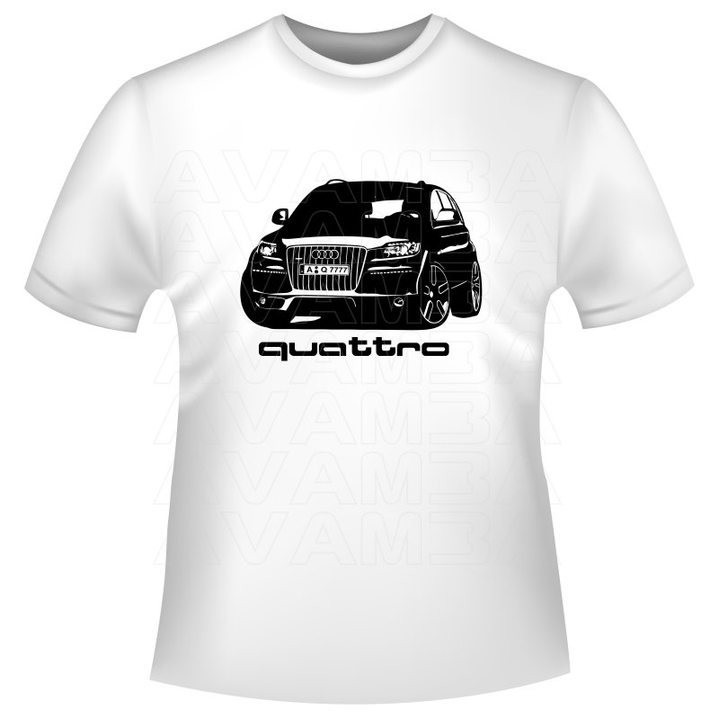 audi q7 quattro auto t shirt kapuzenpullover hoodie. Black Bedroom Furniture Sets. Home Design Ideas