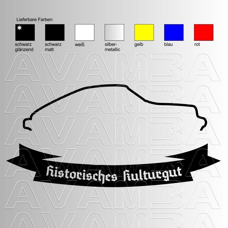 Etwas Neues genug Porsche 911 Silhouette Historisches Kulturgut, AVAMBA Oldtimer Young @TO_77