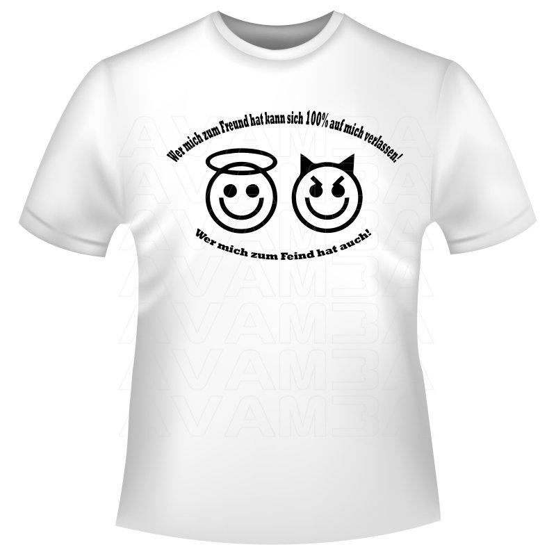 Coole spruche shirts quotwer mich zum freund hat kann sich 100 for Sprüche für t shirts