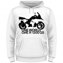 BMW R 1200 GS ONE WORLD  T-Shirt/Kapuzenpullover (Hoodie)