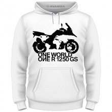 BMW R 1250 GS ONE WORLD  T-Shirt/Kapuzenpullover (Hoodie)