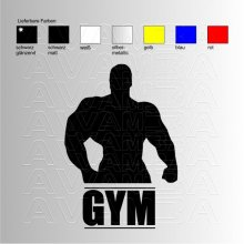 Bodybuilding GYM Aufkleber/ Sticker
