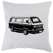 Bus T3 Bulli (1979 - 1992) Car-Art-Kissen / Car-Art-Pillow