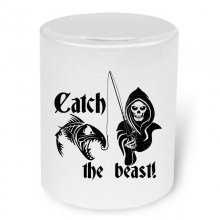 Catch the beast! Moneybox / Spardose mit Aufdruck