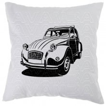 Citroen 2 CV Ente Version2 Car-Art-Kissen / Car-Art-Pillow