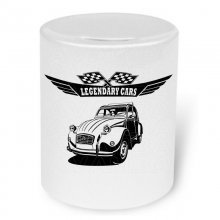 Citroen 2 CV Ente Version2  Moneybox / Spardose mit Aufdruck