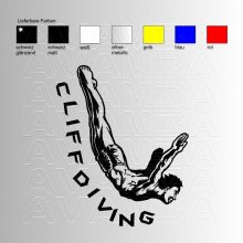 Cliffdiving Klippenspringen  Aufkleber / Sticker