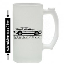 DeLorean DMC-12 Version2 Bierkrug / Beermug m. Aufdruck