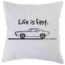 Dodge Challenger Life is fast Car-Art-Kissen /...