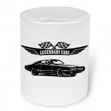 Dodge Charger 1969 Sideview Moneybox / Spardose mit Aufdruck