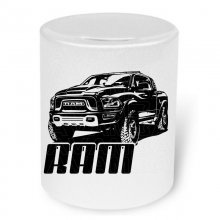 Dodge Ram Rebel  Moneybox / Spardose mit Aufdruck