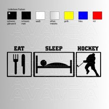 Eishockey Eat - Sleep - Hockey Aufkleber / Sticker