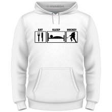Eishockey Eat-Sleep-Hockey T-Shirt/Kapuzenpullover (Hoodie)