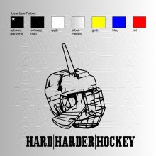 Eishockey Hard - Harder - Hockey Aufkleber / Sticker