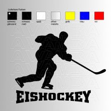 Eishockey Player 1 Aufkleber / Sticker