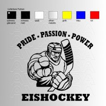 Eishockey Pride | Passion | Power  Aufkleber / Sticker