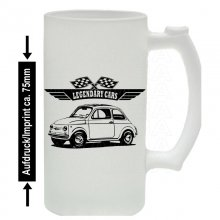 Fiat 500 Version 3  Bierkrug / Beermug m. Aufdruck