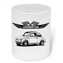 Fiat 500 Version 3  Moneybox / Spardose mit Aufdruck