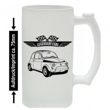 Fiat 500 Version2 Bierkrug / Beermug m. Aufdruck