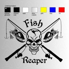 Fish Reaper No. 2  Angelaufkleber / Angelsticker