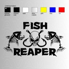 Fish Reaper No. 3  Angelaufkleber / Angelsticker